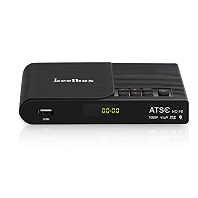 Leelbox Converter Box, 1080P ATSC Digital Tuner Box for Analog TV, Supports Recording PVR, Live TV Shows, Multimedia Playback, H.265 Video Decoding, IR Search, Free Local TV Channels (Black)