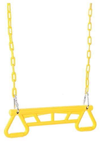 KAFITE Barra de Swing con Anillos de Gimnasio Regalo de Fitness niños diversión niños Juguete Educativo Interior al Aire Libre niño para niños Adultos jardín al Aire Libre Interior (Color : Yellow)