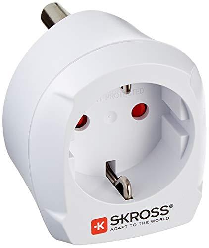 SKROSS 41251 Country Adapter Europa to South Africa, Weiß - geeignet für alle geerdeten und ungeerdeten Geräte (2- und 3-polig)