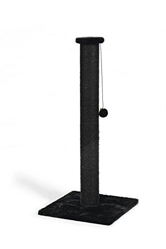 Beeztees 408837 Kratzbaum Serpa schwarz, 40 x 90 cm