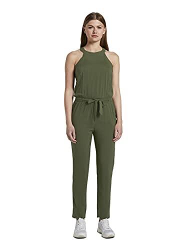 TOM TAILOR Denim Damen Overalls & Jumpsuits Relaxed Neckholder-Jumpsuit Dusty Rifle Green,L,11332,7000