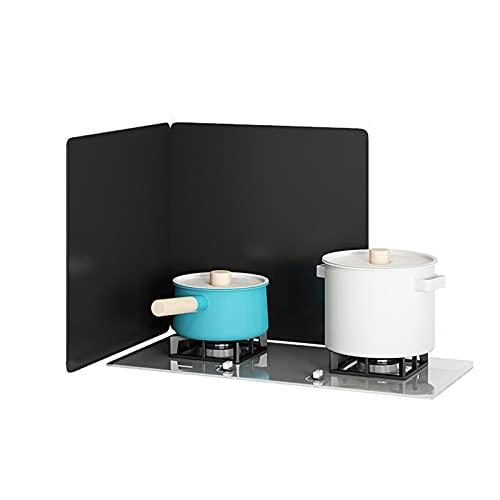 Placa Antisalpicaduras Guardia de salpicaduras de 2 caras, protección contra salpicaduras para cocinar, fregadero salpicaduras de salpicadura plegable salpicaduras de aceite para estufa superi
