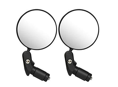 Espejo retrovisor de bicicleta, espejo retrovisor de bicicleta seguro de gran angular convexo plegable giratorio de 360 °, adecuado para bicicleta MTB de carretera de montaña