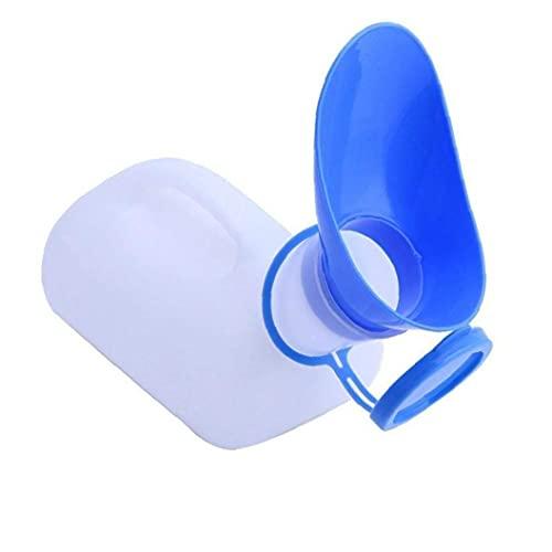 1000ML portátil Botella unisex Urinario con la tapa de la botella con la tapa del orinal portátil Hombre de Emergencia Mujer del pis ir al baño para el Hospital de viajes de automóviles de emergencia