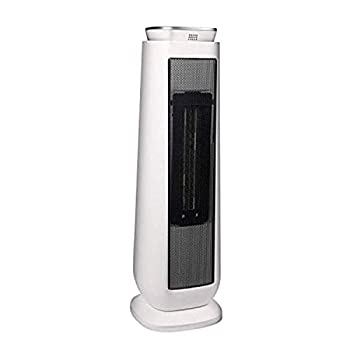 PELONIS PHTPU1501 Ceramic Tower 1500W Indoor Space Heater with Oscillation Remote Control Programmable Thermostat & 8H Timer Tip-Over Switch& Overheat Protect 7.17 x 7.17 x 22.95 inches White
