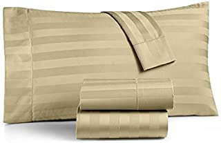 Charter Club Damask Stripe King 4-Pc Sheet Set, 550 Thread Count Pure Supima Cotton (Taupe)