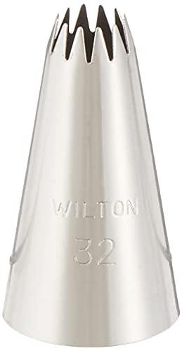 Wilton Blister Cornetto Stella Aperta N. 32 Blister Cornetto Stella Aperta N. 32, Acciaio, Argento,