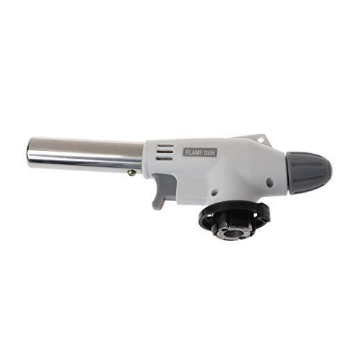 Ycncixwd Tragbare Metall-Flammenpistole BBQ Heizung Zündung Butan Camping Schweißen Gasbrenner