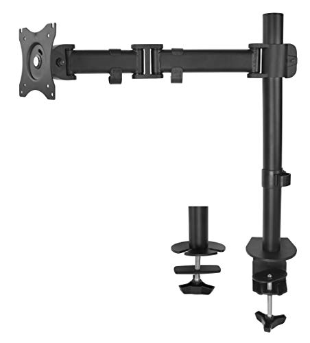 VIVO Single Monitor Desk Mount, Fully Adjustable Articulating Stand for 1 LCD Screen up to 32 inches (STAND-V001M)