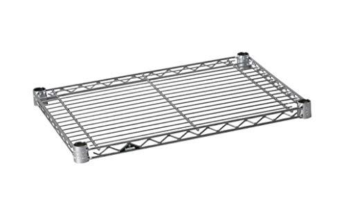 ルミナス ポール径19mm用パーツ 棚板 スチールシェルフ(耐荷重150kg)ワイヤー幅方向 1枚(スリーブ付き) 幅49.5×奥行34.5cm ST5035