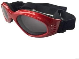 FidgetGear サングラス小型犬用ゴーグルUVサングラスメガネ用ペットポータブル用保護メガネ 赤