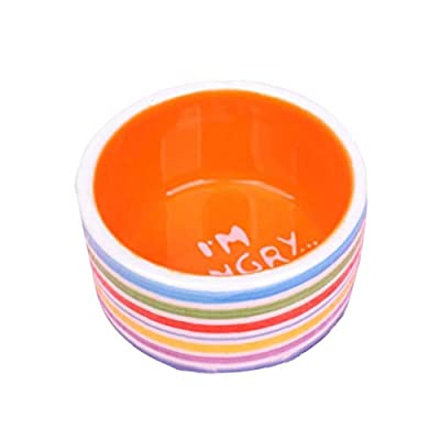VlugTXcJ Pet Supplies Hamster Bowl Creative Stripes Pattern Pet Ceramic Prevent Tipping Moving Bowl Small Animals Cute Mini Feed Basin Pet Food Bowl for Hamsters Mice Guinea Pig from VlugTXcJ