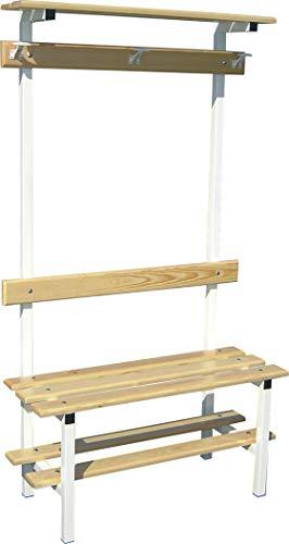 Softee kledingbank, eenvoudig, met schoenenkast, kledinghanger/plank boven
