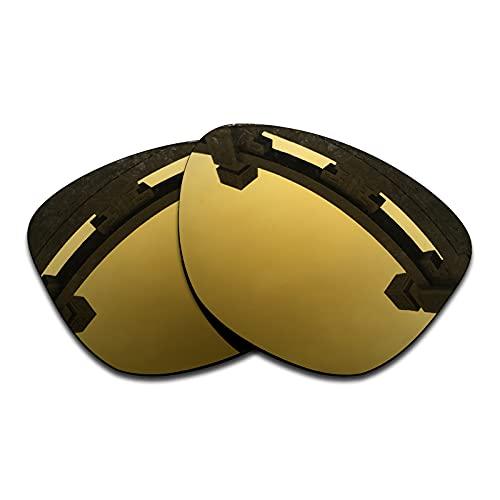 SYEMAX Lentes de repuesto polarizadas para espejo compatibles con Oakley Frogskins (OO9013) Sunglass - Múltiples opciones, (Flash Bronce Polarizado), Talla única