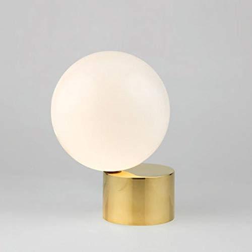Lámpara de mesa Tyxl Sala De Estar Minimalista Lámpara De La Bola De Cristal Dormitorio Den LED Protección De La Lámpara De Cabecera Ojo Moderno (20 * 29cm)