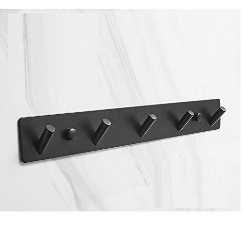 Sus304 acero inoxidable negro oblicuo gancho de pared, fácil de instalar, fuerte soporte de la cubierta de la casa del baño del baño-C3 resistente a la corrosión fácil de limpiar e higiénico