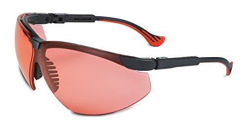 Honeywell Sperian Laser-Gard Laser-Schutzbrille gegen Laserpointer - für Polizei, Luftfahrt, Bahn usw. gegen Laserangriffe bei Nacht - Modell F166, Typ XC - Sichtscheibe Lachs