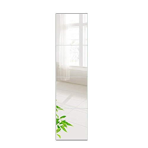 PLIENG Espejo De Cuerpo Entero HD Costuras Sin Marco Espejo De Baile Pasta Dormitorio Espejo De Pared Decoración Espejo para Mujer Regalos,22x22cm