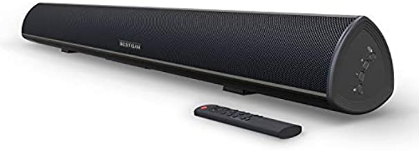 100 Watt 40 Inch TV Sound Bar, BESTISAN Home Theater System Wired and Wireless Soundbar Speaker(Bluetooth 5.0, 105dB, Dsp Audio, Bass Adjustable, Wall Mountable)