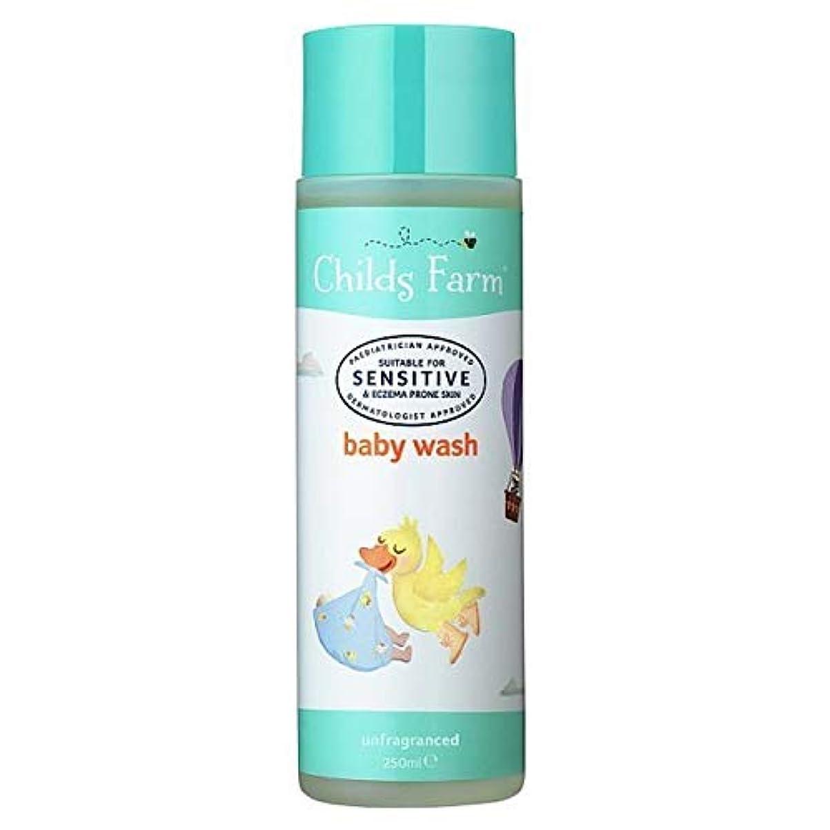 オーストラリア単調なリーフレット[Childs Farm ] チャイルズファームの赤ちゃんは、無香料250ミリリットルを洗います - Childs Farm Baby Wash Unfragranced 250ml [並行輸入品]