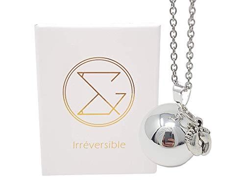 Bola de grossesse argent - Eva pendentif avec chaîne pour femmes enceintes beau cadeau bijoux pour...