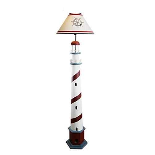 Lámpara de pie con luz de pie retro para salón, dormitorio, mesita de noche, ahorro de energía para niños, lámpara de mesa vertical, lámpara de sofá, lámpara de poste interior (color: azul)