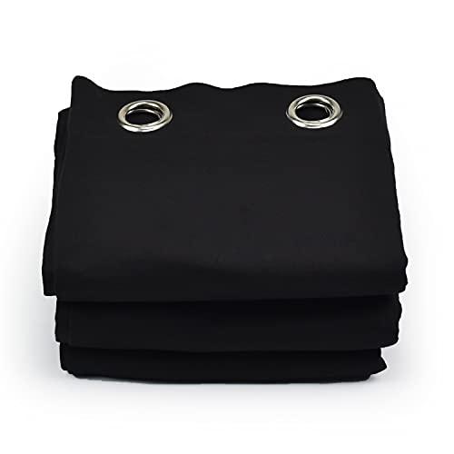 Acouspanel Cortina Acústica de Tejido Opaco Dimensiones 1,35x2,4m Algodón Ignífugo Afelpado a Las Dos Caras de 300gr. Color Negro