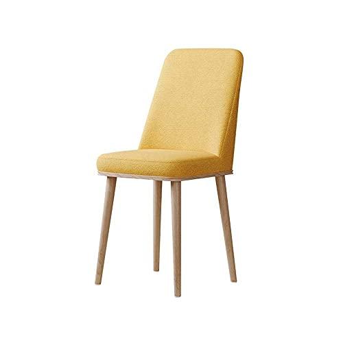 N&O Renovation House Nordic Moderner Stuhl für Erwachsene helle Holzfarbe Beine mit Rückenlehne Generation Home Dining Chair Restaurant Fashion Chair (Color : White)