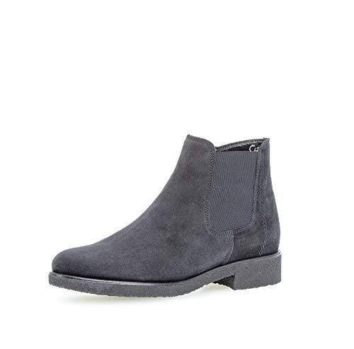 Gabor Damen Stiefeletten, Frauen Chelsea Boots,Comfort-Mehrweite,Reißverschluss,Optifit- Wechselfußbett, feminin,Pazifik(S.s/s/Mic),40 EU / 6.5 UK