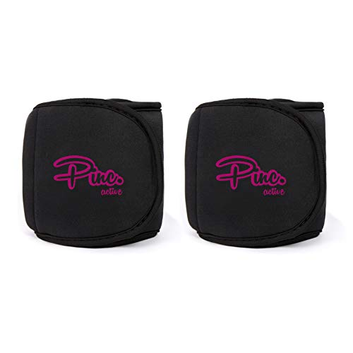 Ankle Weights Set by PINC Active (2x2lbs Cuffs) - 4lbs in Total - For Women, Men and Kids – Used For Workouts at Home, Pilates, Yoga, Boxing, Dancing and Resistance Training