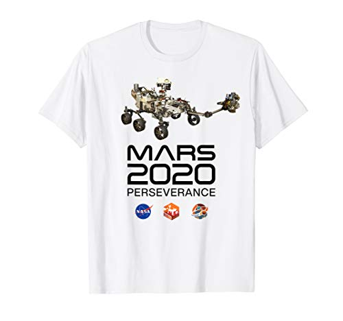 Mars 2020 Perseverance Rover Mission Patch Logo JPL Insignia T-Shirt
