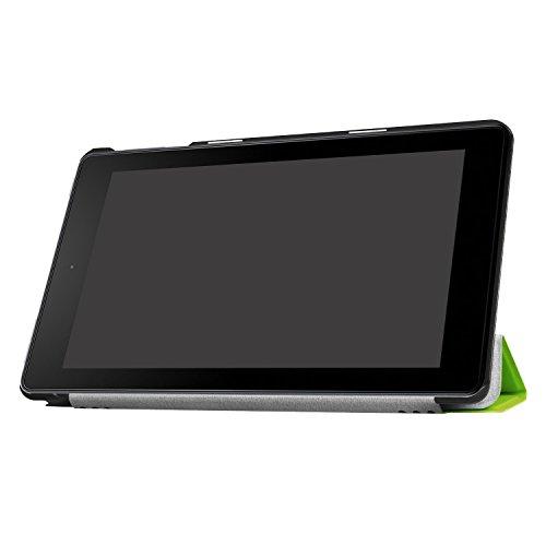 Lobwerk Cover für Amazon Fire HD 8 (2016/2017/2018) 8 Zoll Tablet Schutzhülle Hülle Flip Case mit Auto Sleep/Wake Grün