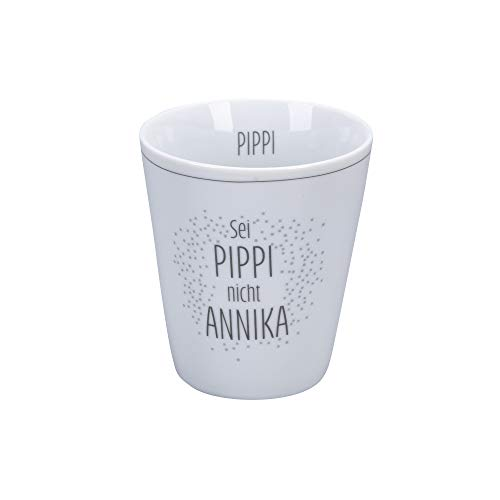Krasilnikoff - Happy Mug - Becher, Tasse - Sei Pippi Nicht Annika - Porzellan - H10 x Ø8,7 cm - Volumen: 330 ml