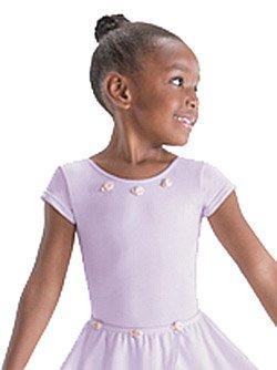 Motionwear Bow Back Cap Sleeve Leotard (Child Medium, Lavender)