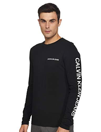 Calvin Klein Essential Instit LS tee Camisa, CK Black, XL para Hombre