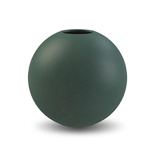 Cooee Design Ball vaas, keramiek, donkergroen 10 cm