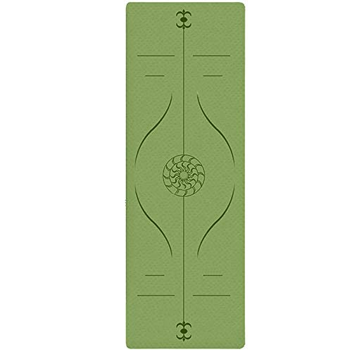 Yoga Mat Non Slip, HSIDS Exercise Yoga Mats for Women, Eco Friendly TPE Pilates Fitness Mats Extra Thick with Carrying Strap for Floor Workouts 6mm