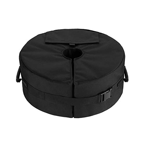 Sandbags Sandbag Sandbag 900D Oxford Cloth Durable with Velcro for Parasols/Gazeboes/Awns/Tents/Party Tent, Can Load 46 Kg,Black