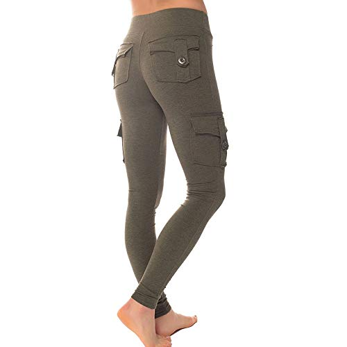 OEAK Damen Jogginghose Sweathose Slim Fit Jogger Stretch Cargo Pants Elastische Taille Sweatpants Beiläufige Hosen High Waist Lange Sporthose