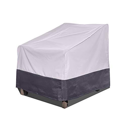 AsterOutdoor Funda impermeable para silla de patio, tela Oxford 600D resistente, protección UV, cubierta para muebles de patio o exterior, 89 cm de ancho x 96,5 cm de profundidad x 81,2 cm de alto.