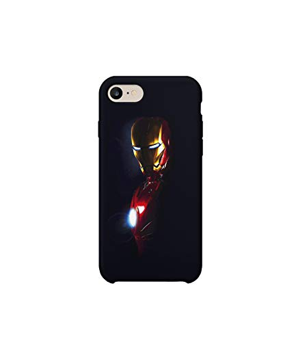 GlamourLab Iron Man in The Dark Protective Case Cover Hard Plastic Handyhülle Schutz Hülle for iPhone 7 Regalo di Natale