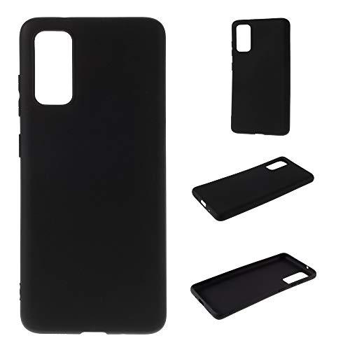 CoverKingz Handyhülle für Samsung Galaxy A41 - Silikon Handy Hülle Galaxy A41 - Soft Hülle in Matt Schwarz