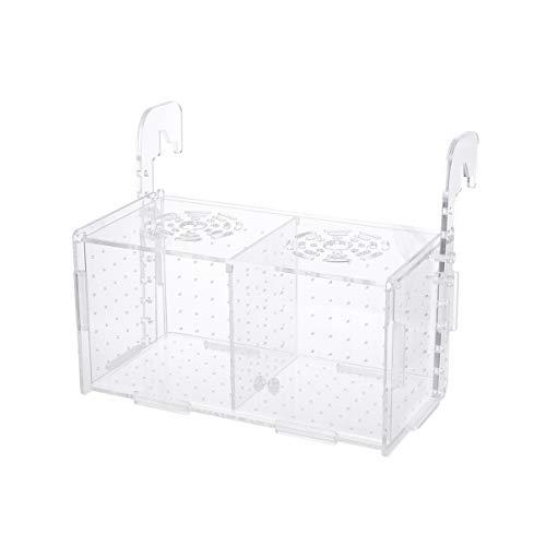 Balacoo Aufzuchtbox für Aquarium-Acryl-Weiß Züchter Isolation Teiler Brutkästen Zubehör für kleine Babyfische Garnelen Clownfish Guppy-Hook-Muster