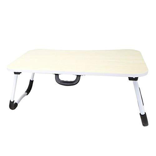 Smallrun* Mesa de Ordenador portátil para Cama y sofá, Soporte para Ordenador portátil, Mesa Plegable, portátil, Bandeja de Desayuno Mesa de Cama multifunción (Blanco)