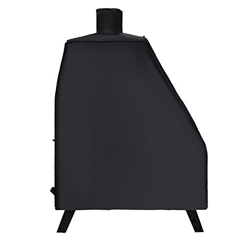 i COVER Smoker Cover-Sized for Dyna-Glo DGO1176BDC-D Vertical Offset Charcoal Smoker, Heavy Duty Waterproof Patio Outdoor Canvas Smoker Cover, G21637.