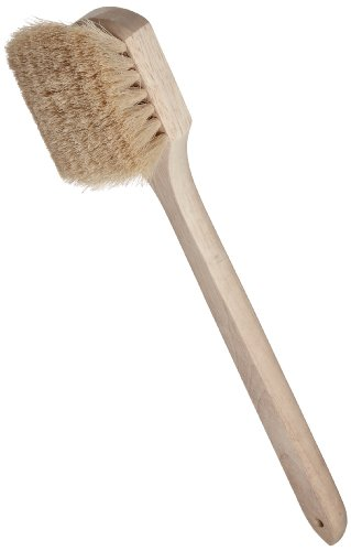 Weiler 44017 20' Length, White Tampico Fill, Wood Block, Utility Scrub Brush,Natural
