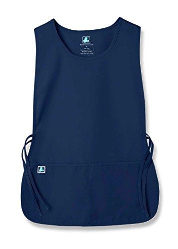 Adar Uniforms Adar Uniforms Unisex Arbeitsschürze mit Taschen für Schönheit und medizinische Berufe 702 Farbe: NVY | Größe: X-Large