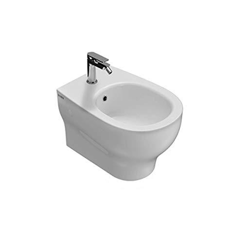 Sanitari bagno bidet sospeso monoforo 52.36 h31, Grace Globo, ceramica bianca