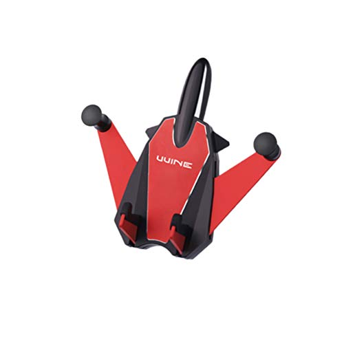 UKCOCO Soporte Coche Móvil,ABS Car Phone Holder In Car Anti-caída Anti-Mobile Phone Scratching Car Air Outlet Gravity Soporte para teléfono móvil para teléfono (Rojo)
