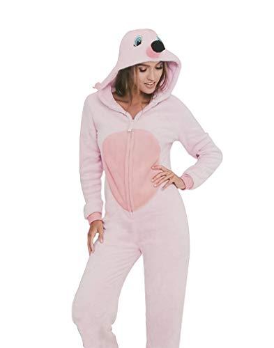 KRAZY TOYS Pijama Animal Entero Unisex para Adultos como Ropa de Dormir-Traje de Disfraz para Festival de Carnaval (Canguro, L/XL)
